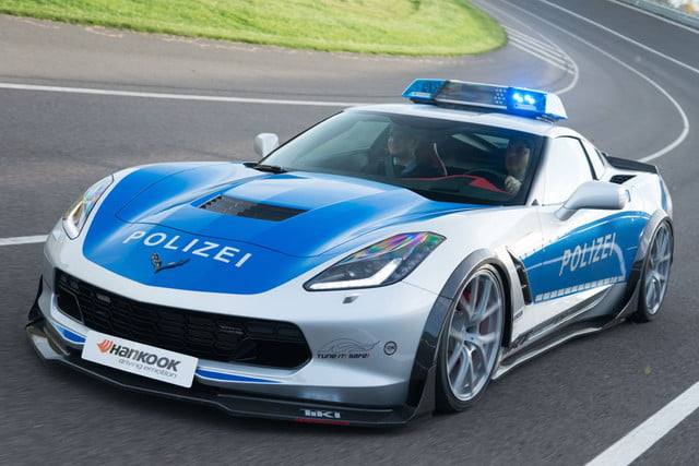 Rest Easy Speeders This Chevy Corvette Police Car Is On A - Police car