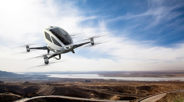 ehang 184 drone flying taxi ces 2016 12