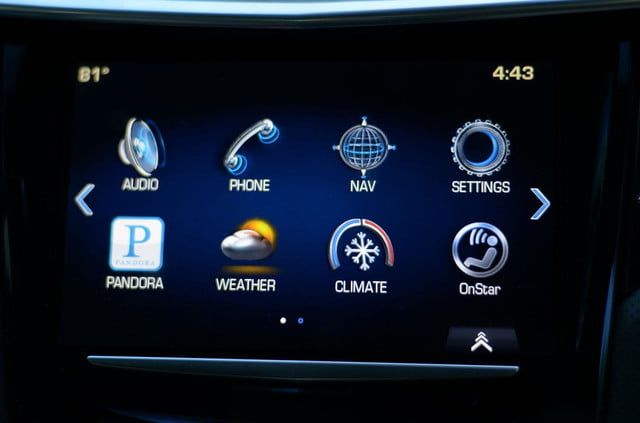 2013 Cadillac XTS interior tech touch screen apps