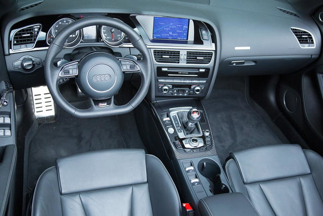 2014 Audi RS 5 Cabriolet interior front top view