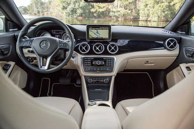 2014 Mercedes Benz CLA250 front interior from back