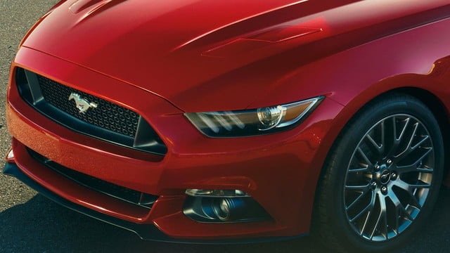 2015 Ford Mustang front left macro