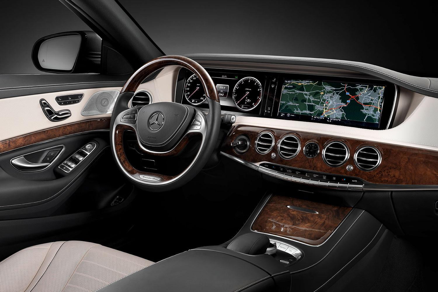 2017 Mercedes Benz S550 Front Interior Angle