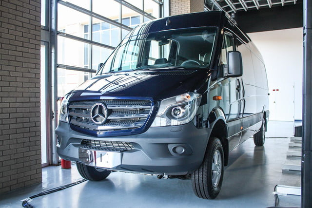 2015 Mercedes-Benz Sprinter front blue angle