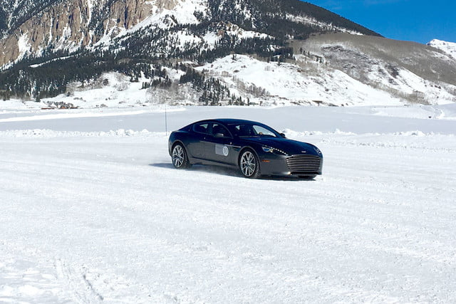 2016 aston martin on ice first drive side mount