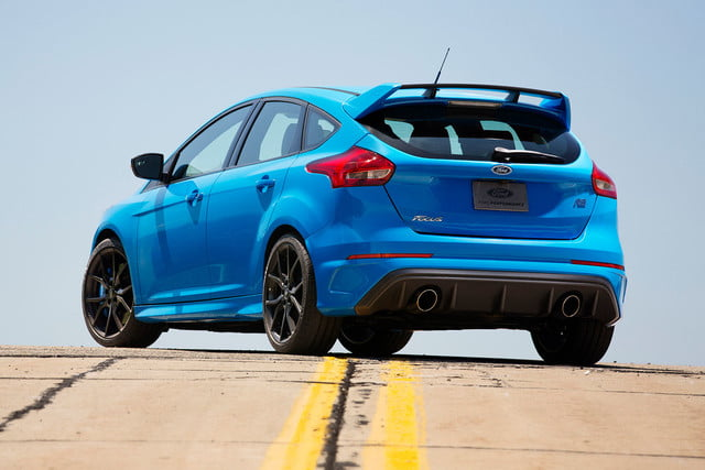 2016 ford focus rs first drive back angle