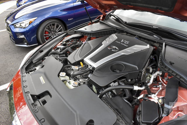 2018 Infiniti Q50 shot of the engine from an angle