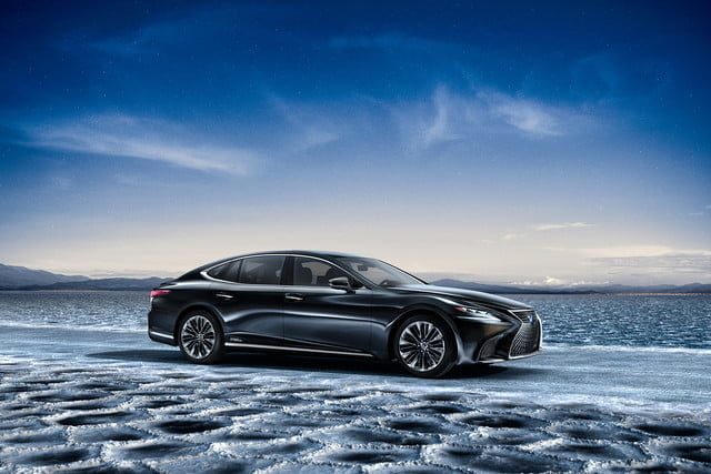 lexus ls may get plug in hybrid ev hydrogen fuel cell variants 2018 ls500h  18