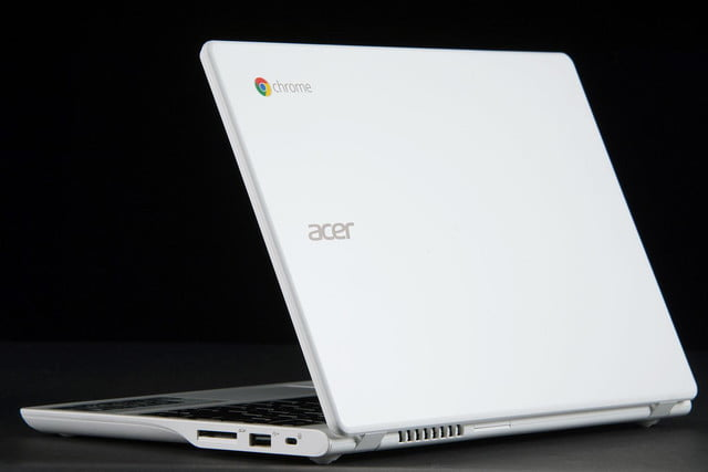 Acer C720P Chromebook back angle open 2