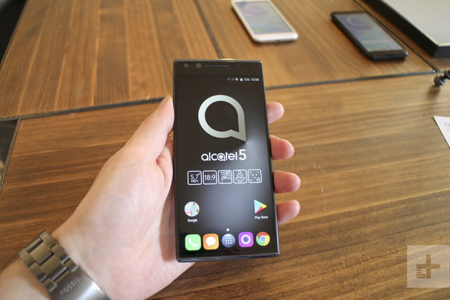 Alcatel Series 5 hands-on review | Holding front of phone