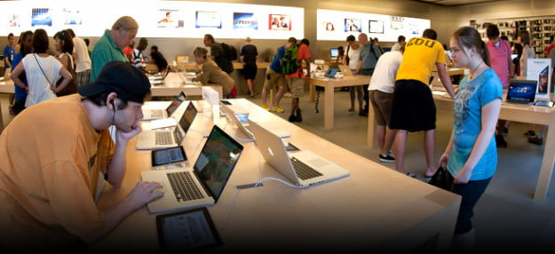does the apple store take cash