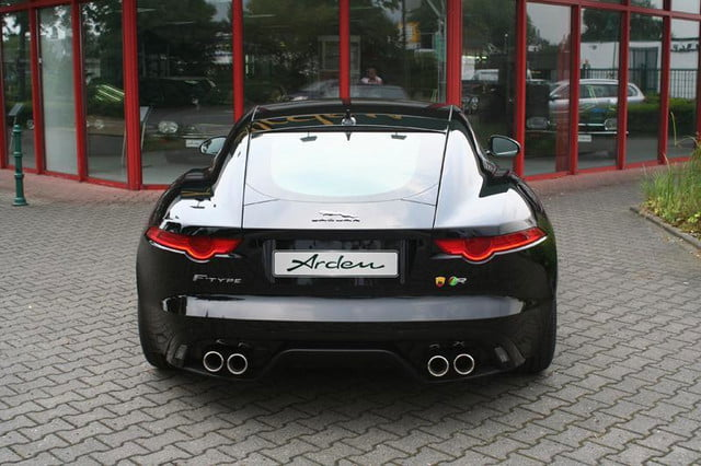2015 jaguar f type coupe tuned by arden press image rear view
