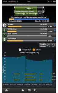 badass battery monitor kindle fire app