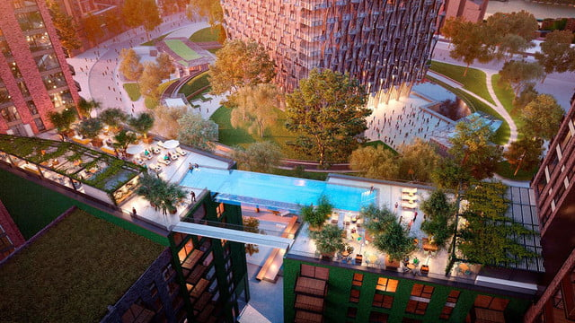 this swimming pool will be 100 feet in the air and join two buildings ballymore embassy gardens 19