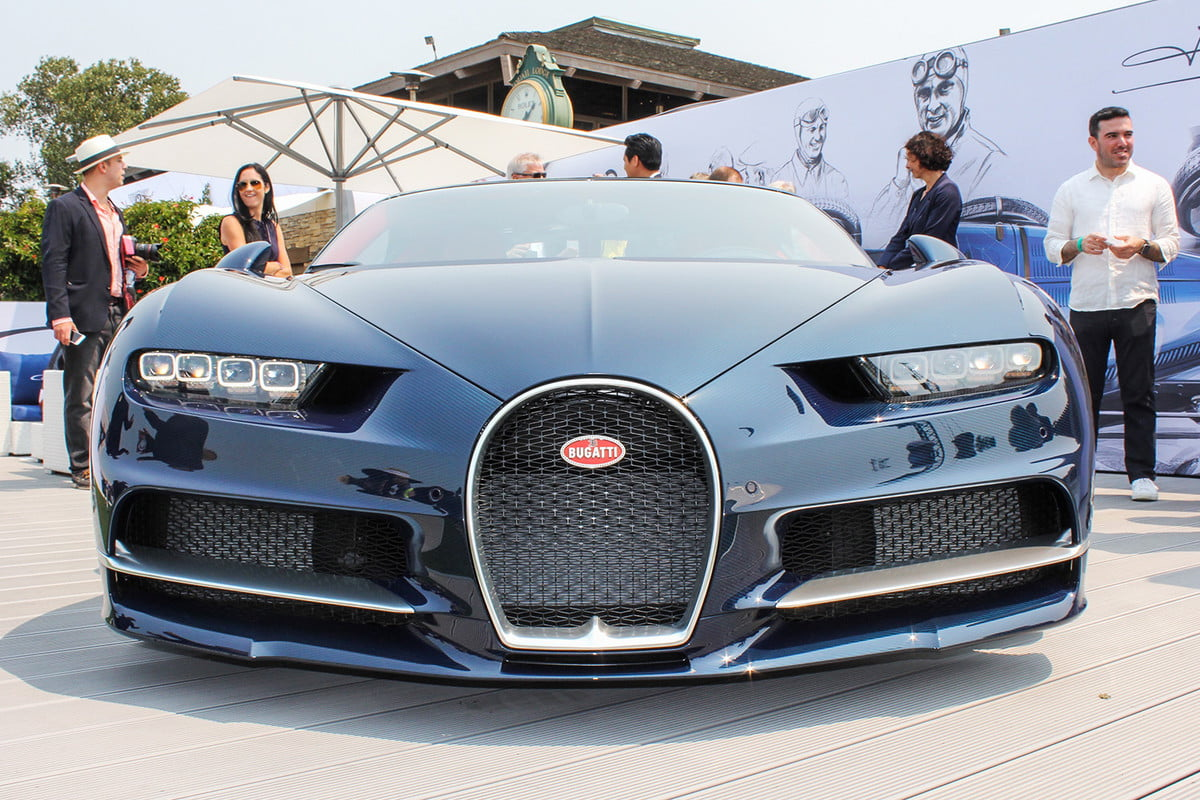 monterey car week pebble beach concours delegance 2016 bugatti chiron v2