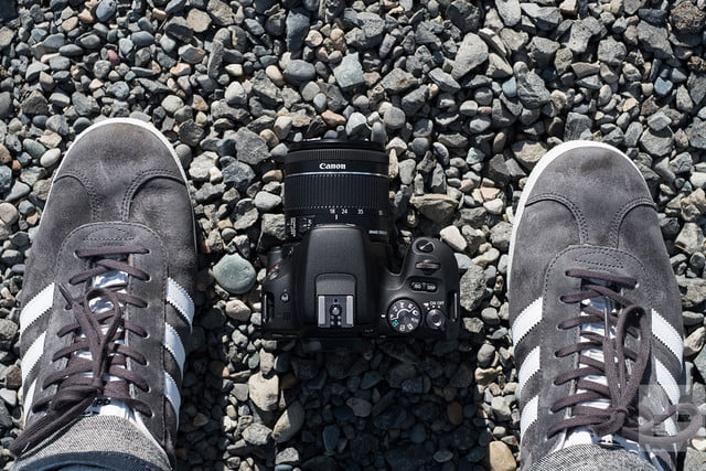Canon EOS Rebel SL2 review shoes