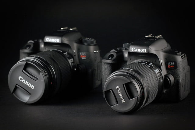 Canon EOS Rebel T6i side by side 2