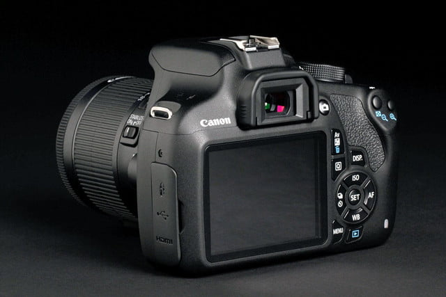 Canon EOS Rebel T5 back angle 1