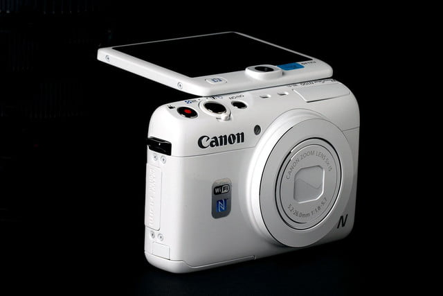 Canon N100 front angle screen