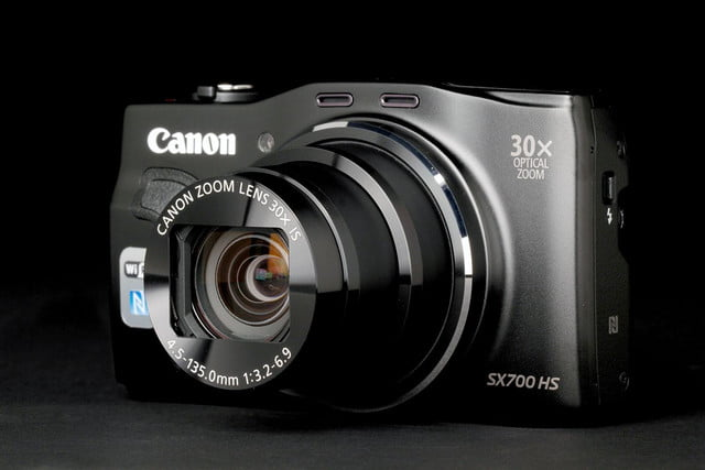 Canon PowerShot SX700 front angle no flash