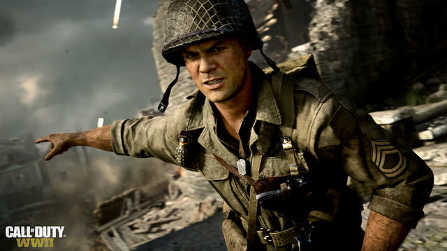 Call of Duty: WW2 review soldier pointing