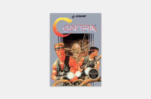 best nes games ever contra cover