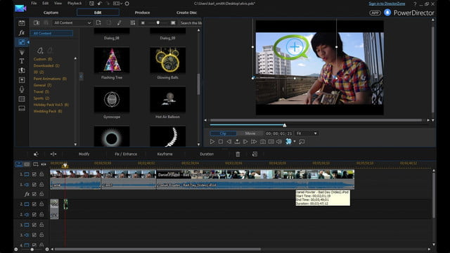 cyberlink director suite 4s new features include action cam video editing pip designer enu