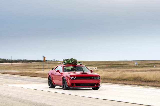 hennessey and dodge takes record for worlds fastest christmas tree 174mph 06