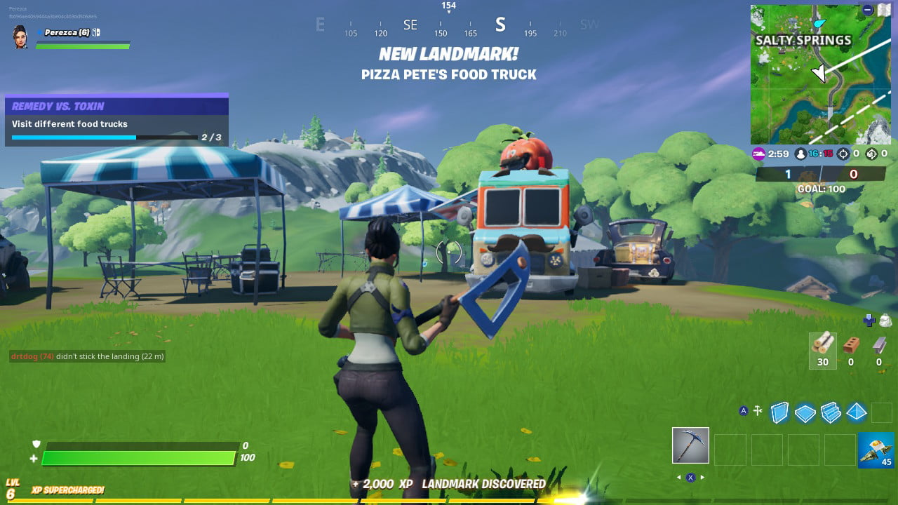 Fortnite Salty Springs Food Truck