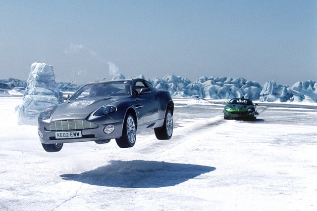 all time wackiest james bond cars aston martin v12 vanquish  die another day 2002
