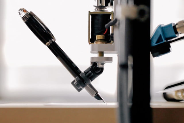 envelope uses robots to write thank you notes for your wedding bond pen