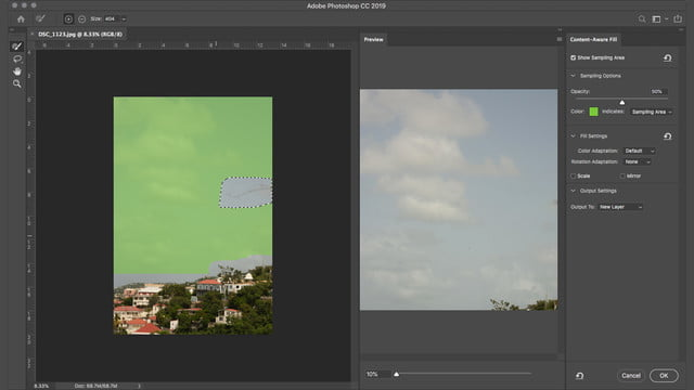 How to Remove An Object in Photoshop Using Content Aware