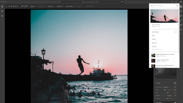 lightroom texture slider may 2019 update contextual help  menu