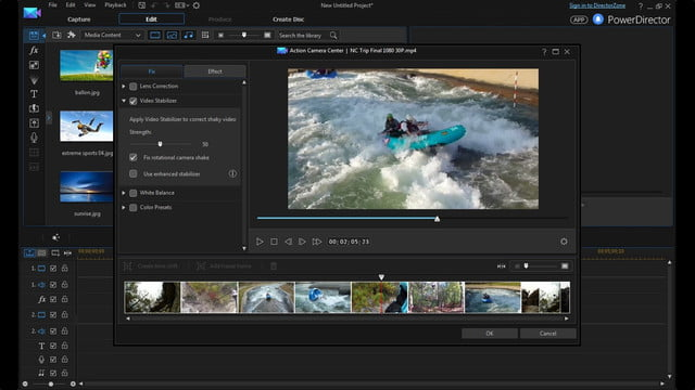 cyberlink director suite 4s new features include action cam video editing camera center enu
