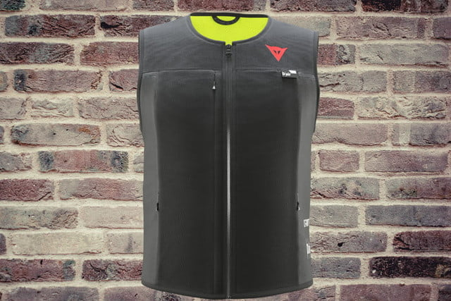dainese smart jacket garment airbag breaks new ground so you wont get broken dair front