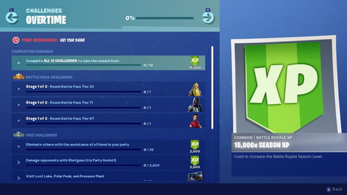 A Complete Fortnite Season 9 Overtime Challenges and Rewards