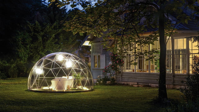 the garden igloo is a geodesic dome for your lawn 0013