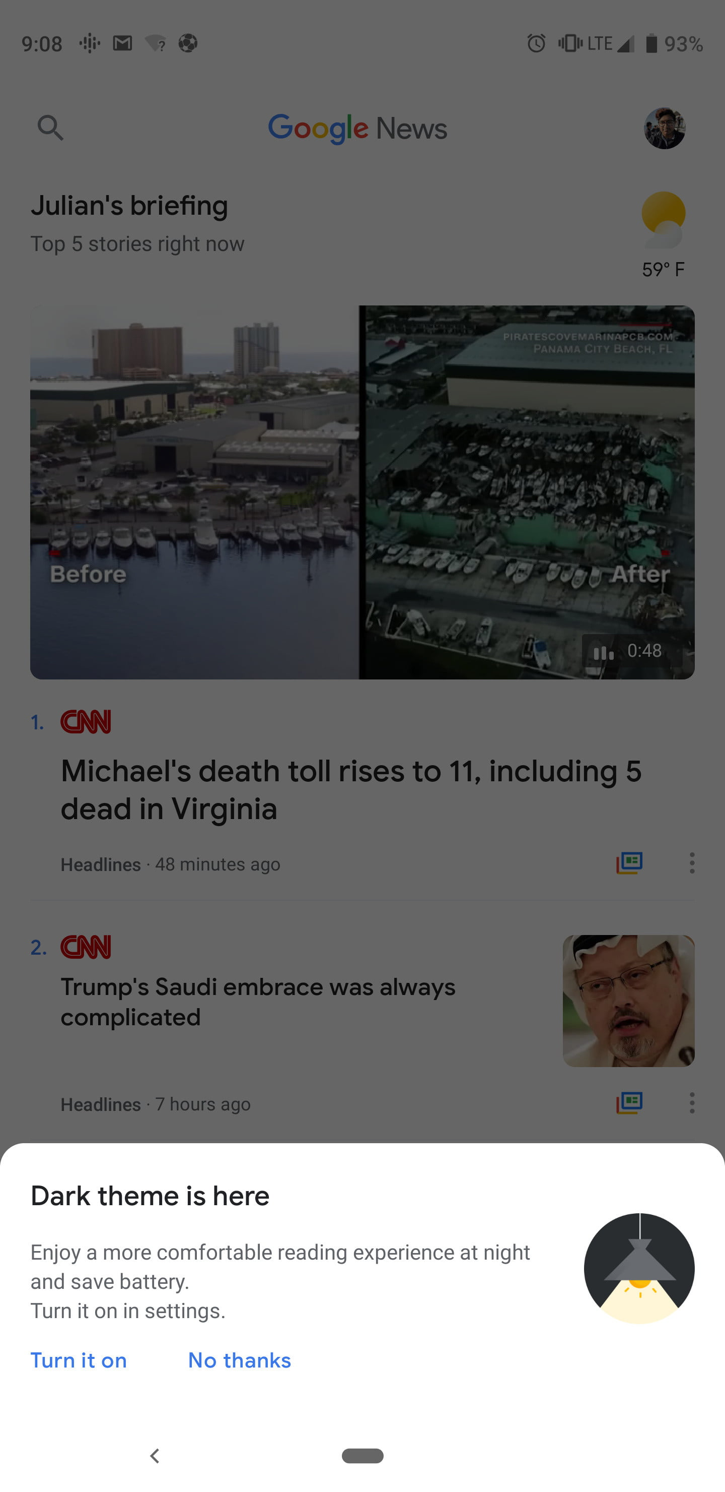 Google News Gets a Dark Mode in Its Latest Android Update