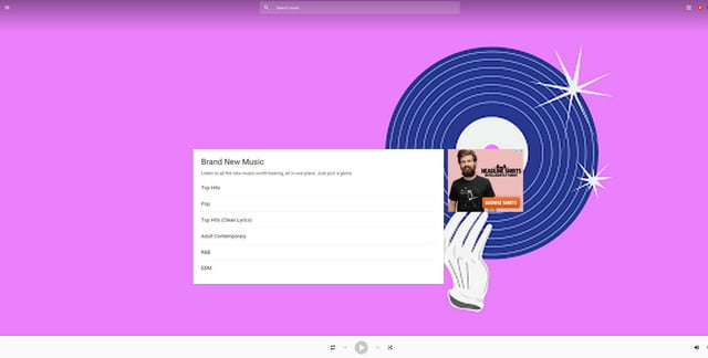 google music announces free ad supported tier play brand new