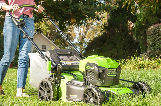 amazon deals on greenworks pressure washers and yard tools 21 inch 40v brushless push mower 6ah battery charger included m 21