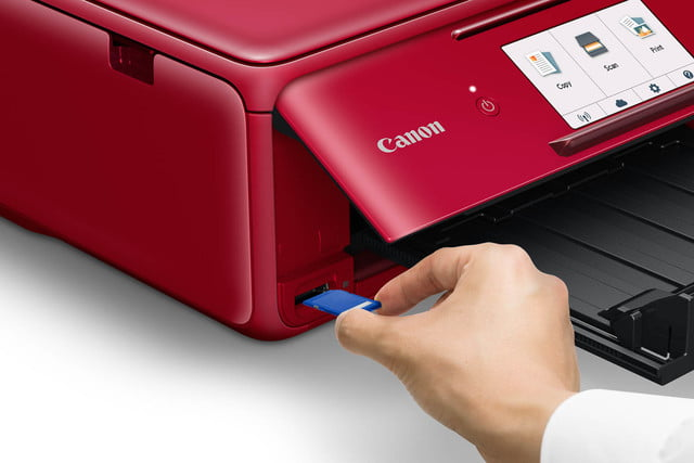 canon ts tr inkjet printers message in print app i ts8120 cdp red en