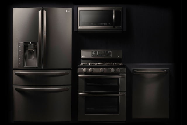 black stainless steel appliances trend lg series hero