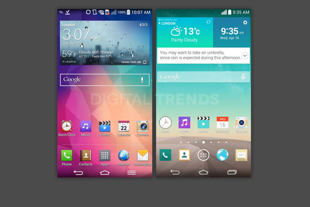 lg g3 homescreen screenshots leak exclusive vs g2