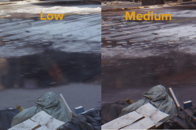 division pc performance guide low medium reflections