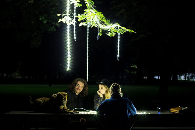 the luminoodle is a portable led light strip picnic hanging luminoodles
