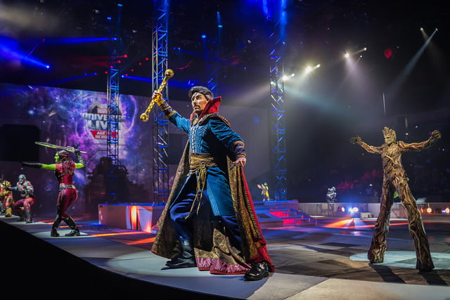 marvel universe live circus age of heroes on stage 6