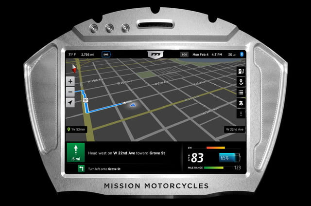 missions hot new 160hp electric motorcycles one gear plus reverse 150mph and no shifting mission moto r maps screen