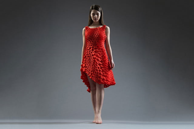 3d printed dress petal kinematics nervous system kinematic petals 007