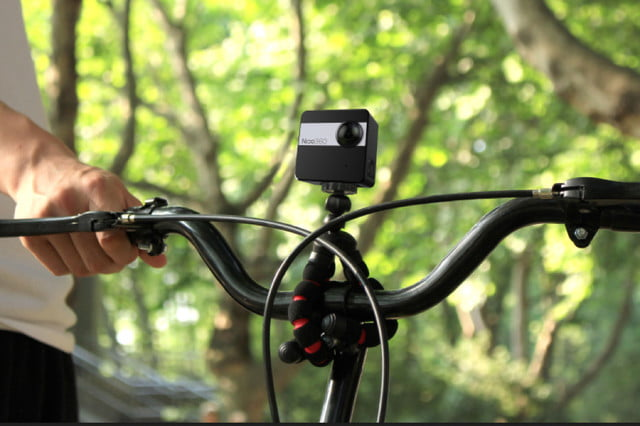 nico360 vr camera on bike