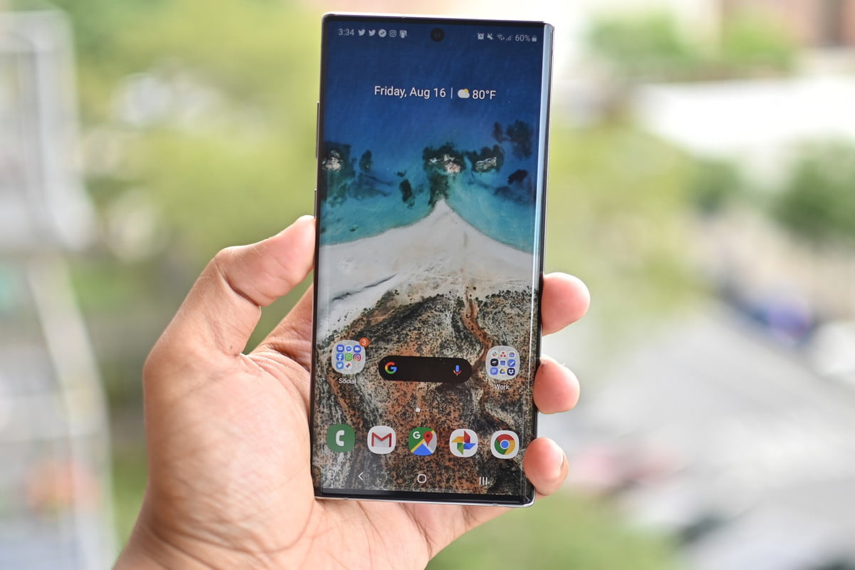 note10 plus screen review